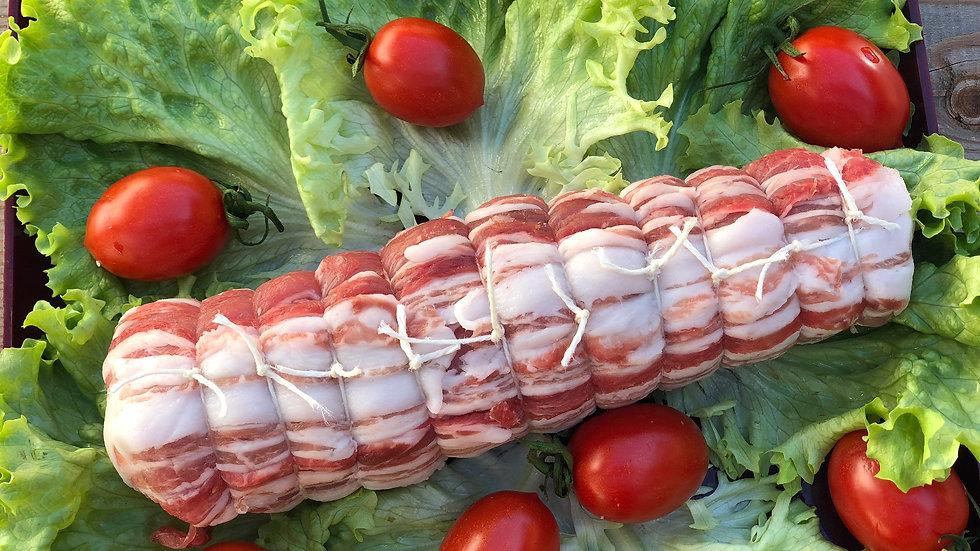 Filetto di suino ripieno di salsiccia