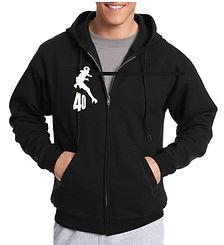 Hanes Men's EcoSmart Fleece Zip Hood: 50% cotton, 50% polyester Full front zip Long sleeves Drawstring hood Rib-band cuffs and hem Machine wash