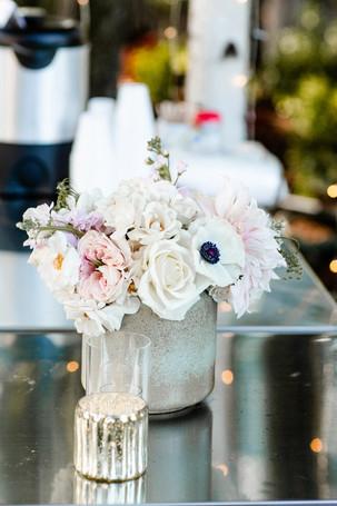 Wedding bouquet on bar