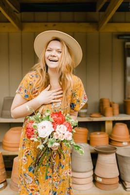 Kathryn, our lead florist