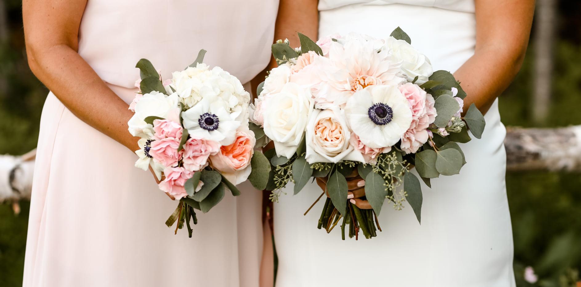 Bride + Bridesmaid bouquet