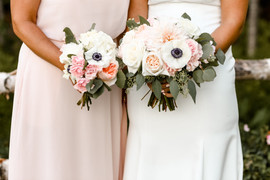 Bride's and bridesmaid's bouquet