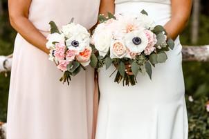 Bride's and bridesmaid's bouquet