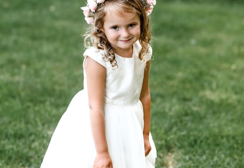 Flower girl with her flower crown