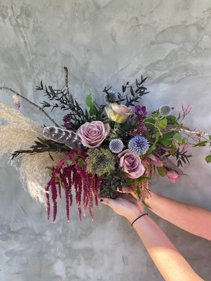 Witchy, occult-inspired fall bouquet