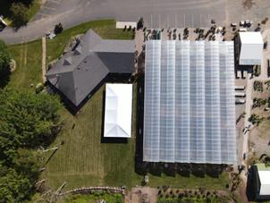 Aerial view of wedding venue