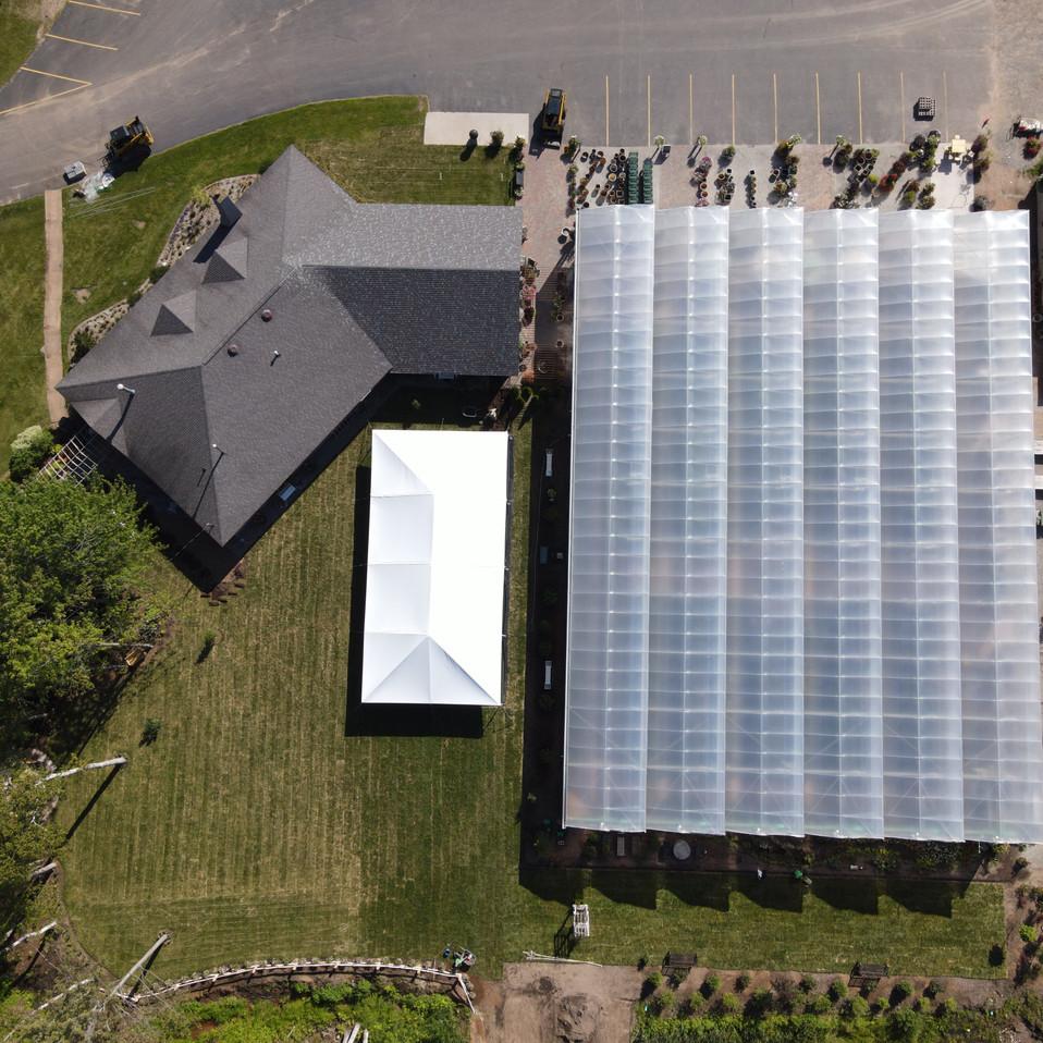 Aerial view of Nagelkirk Gardens venue