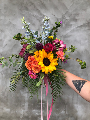 Bright and colorful summer bouquet