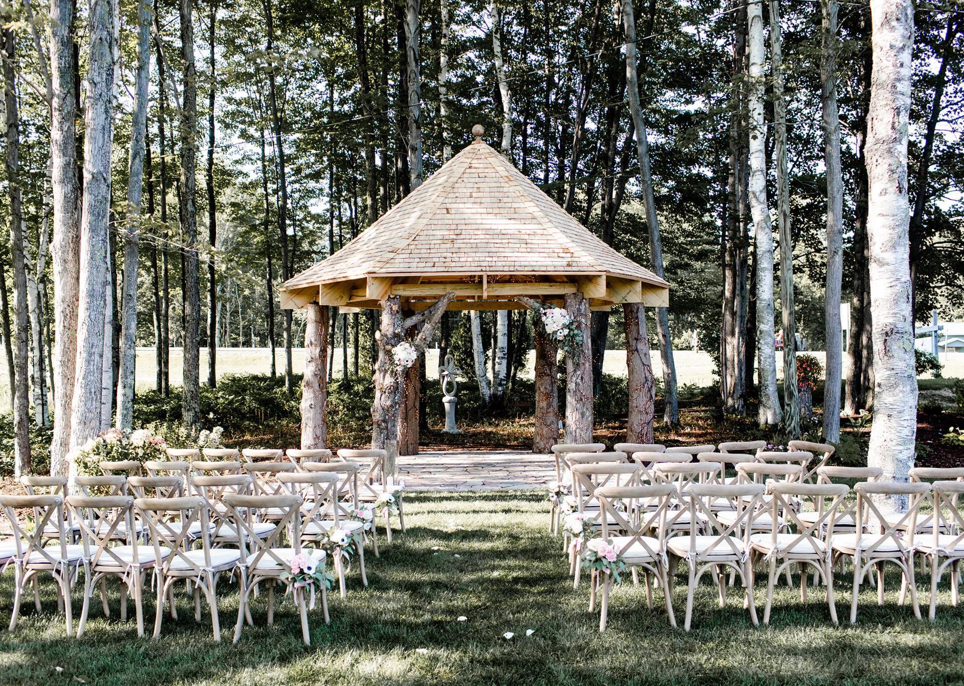 Cedar Gazebo in the wedding venue