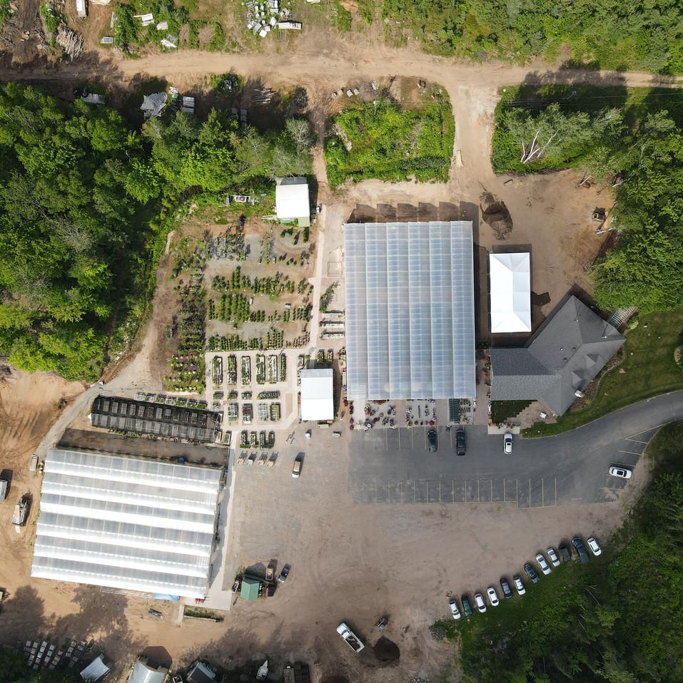 Aerial view of Nagelkirk Gardens