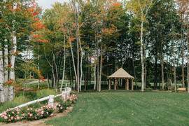 Cedar gazebo and grounds