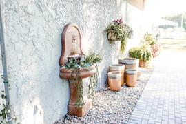 Outdoor fountains and garden decor