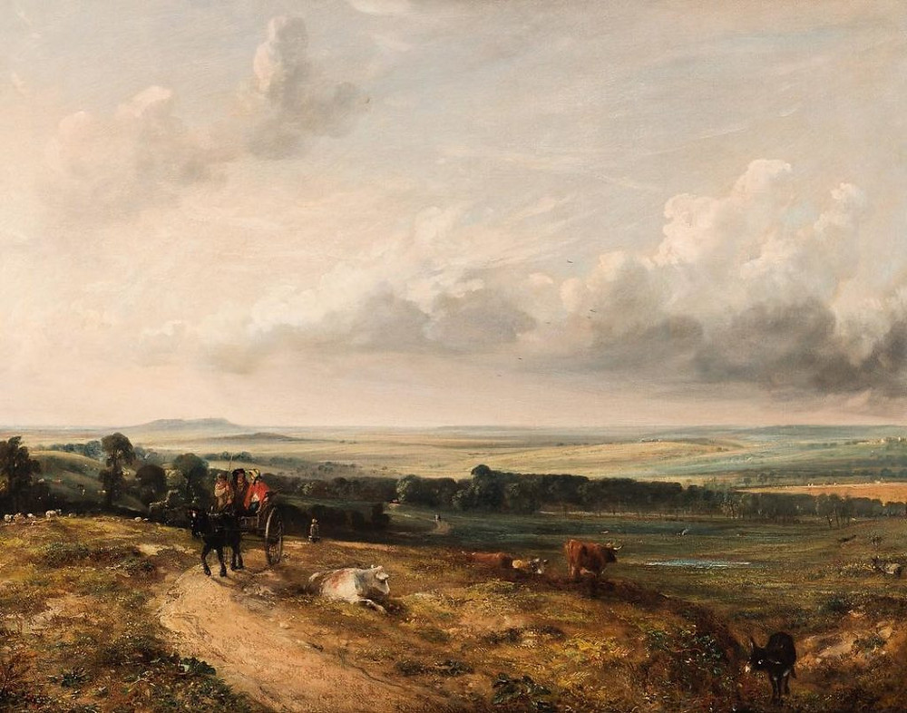 Figure 3: View of Hampstead Heath. Child's Hill, Harrow in the distance (1824), painting by John Constable
