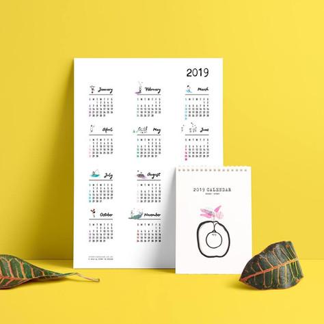 Tada! Unique Illustrated Calendar!