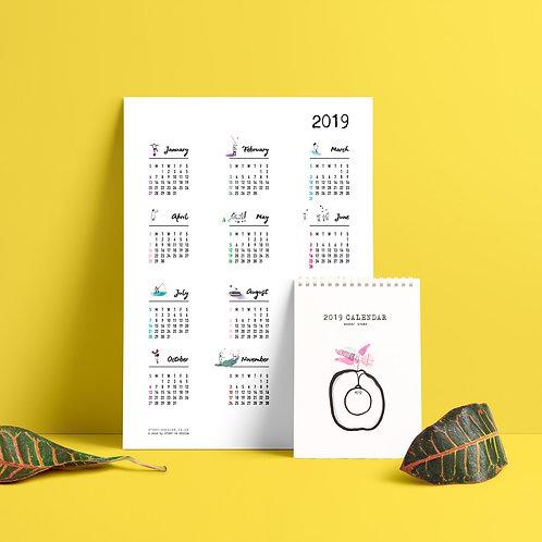 2019 Illustrated Calendar Set - Seeds' Story
