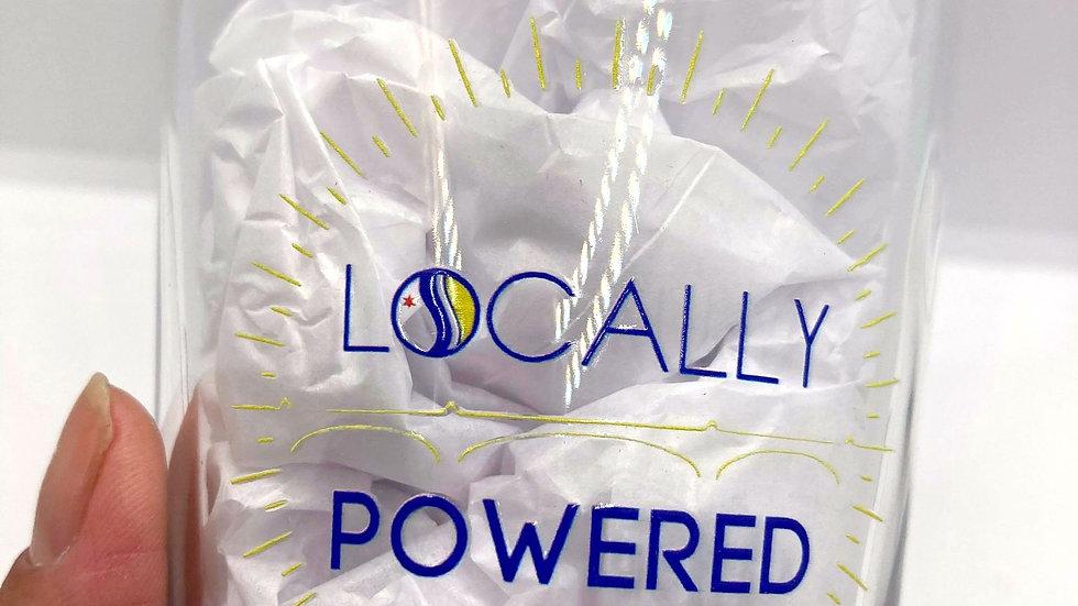 Locally Powered pint glass