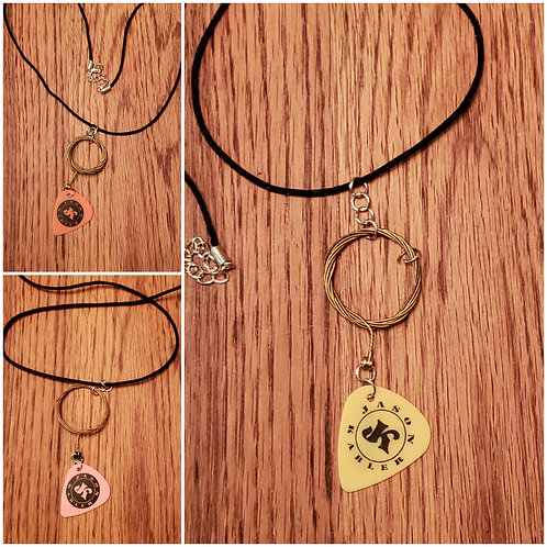 JK Necklace (With guitar pick and personally used guitar string)