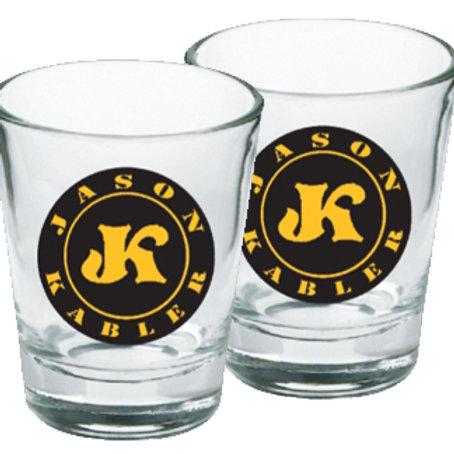"""SET of 2 """"Jason Kabler"""" Shot Glasses"""