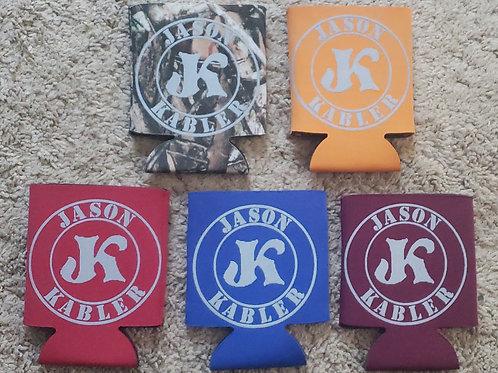 NEW Jason Kabler Logo Koozie