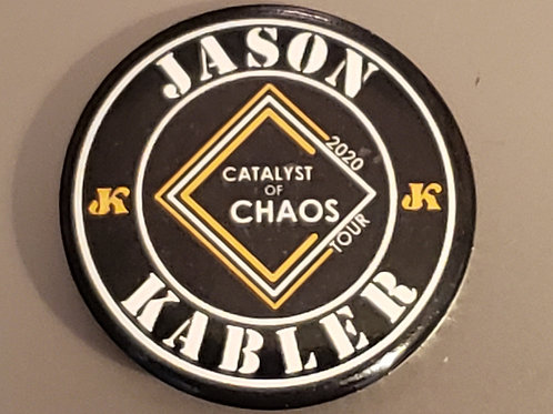 "JK ""Catalyst of Chaos 1.5"" Collector button"