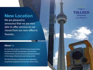New Toronto Location