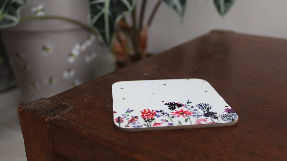 Floral Bees coaster