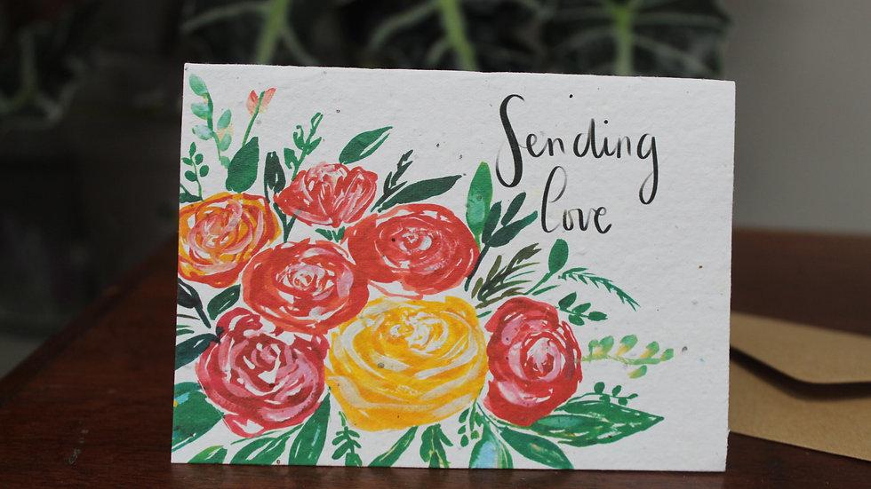 Plantable Greetings Card, Sending Love