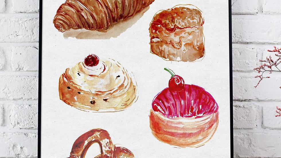 Baked Goods Print