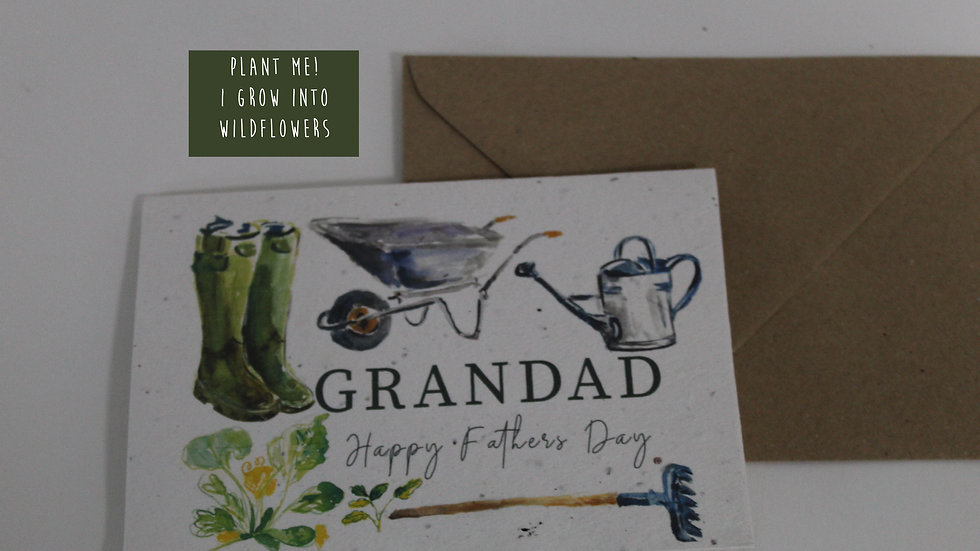 Plantable fathers Day Card, Grandad