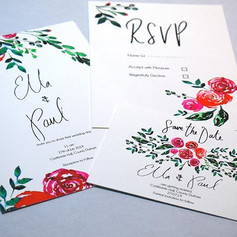 Wedding stationery samples all finished
