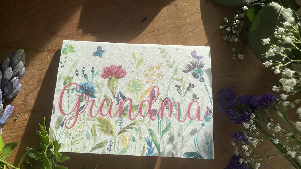 Grandma Plantable Mother's Day card