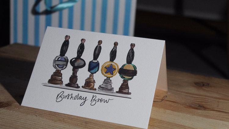 Beer Pump Birthday Card