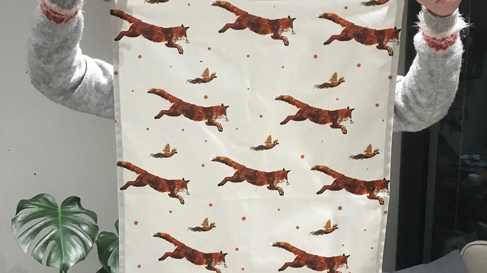 Fox and Pheasant Teatowel