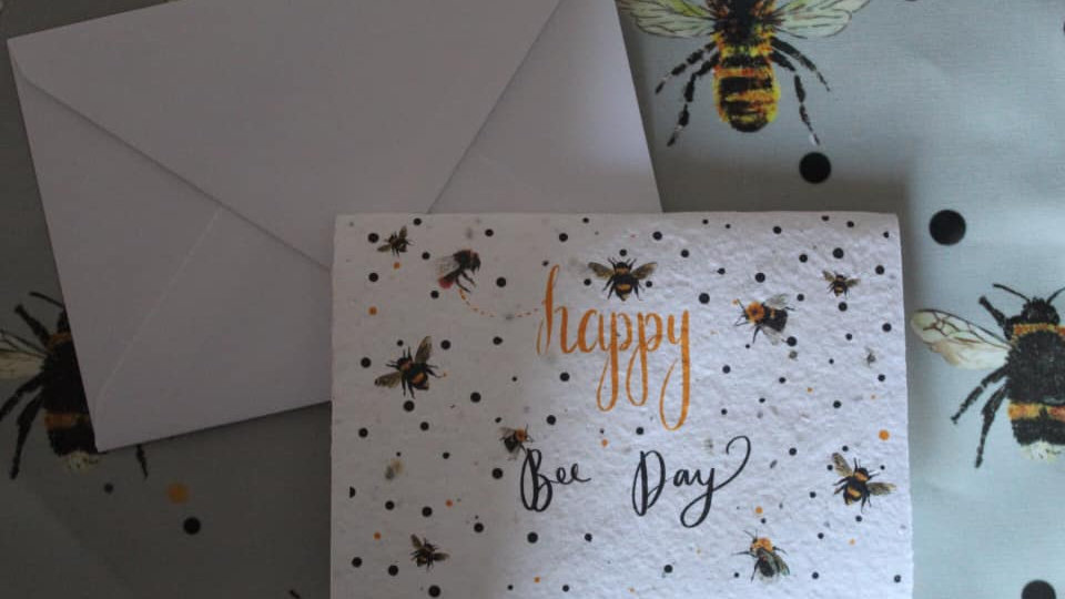 Happy Bee Day Plantable Greetings Card
