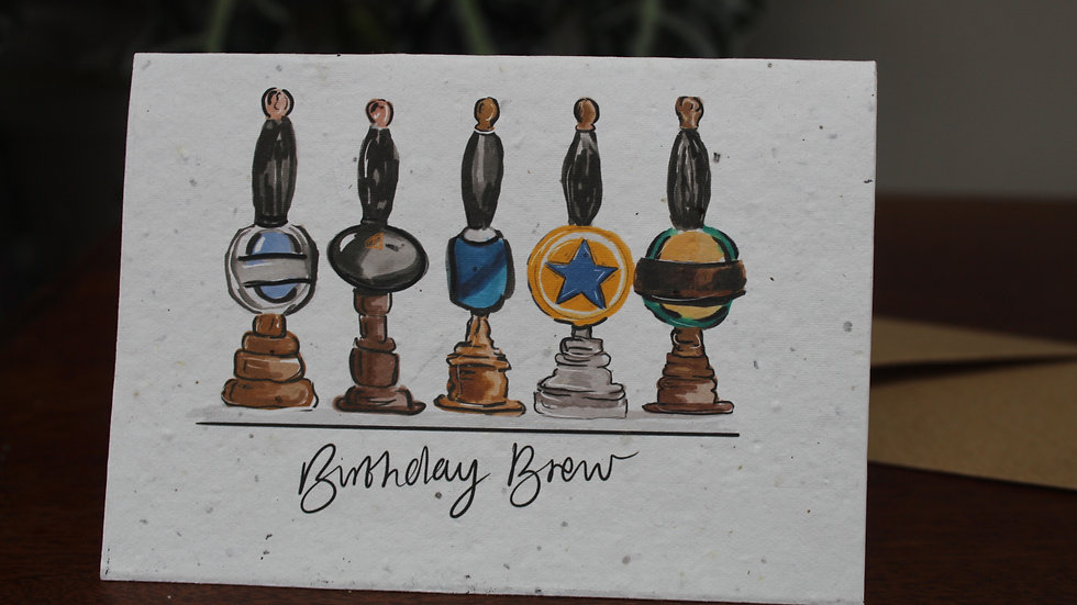 Plantable Greetings Card, Birthday Brew
