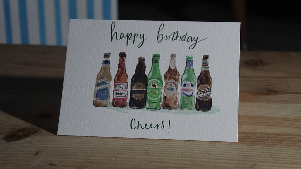 Beer bottles Card