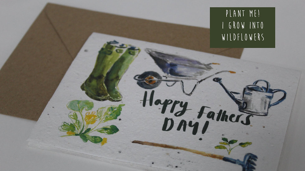Plantable Fathers Day Card, Gardening