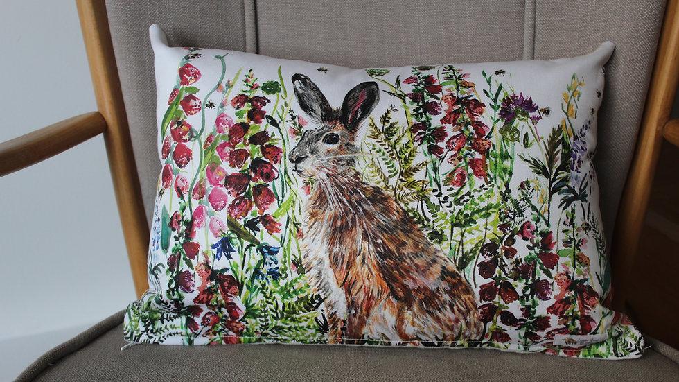 Hare cotton cushion