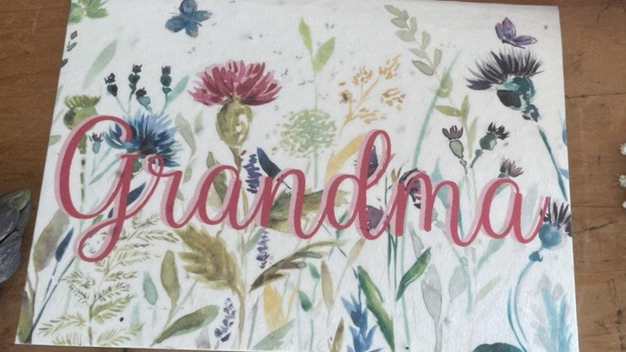 Grandma Floral Card