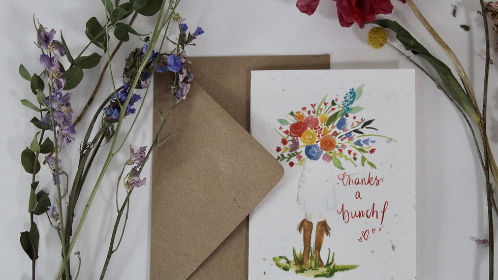 Plantable Thanks a bunch greetings card