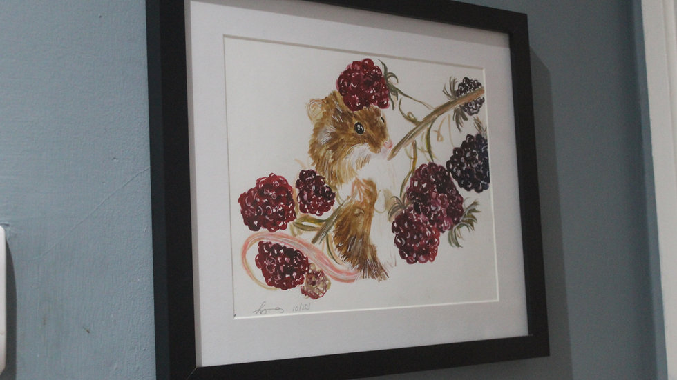 Field Mouse Original Framed Painting