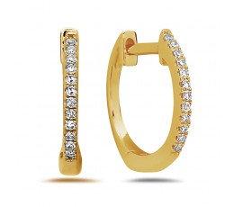 14k mini hoop diamond earring