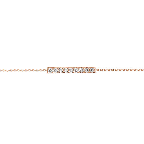 18k yellow gold diamond bar bracelet
