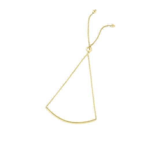 14k yellow gold bar bracelet
