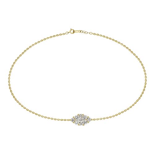 18k yellow gold marquis shape diamond bracelet