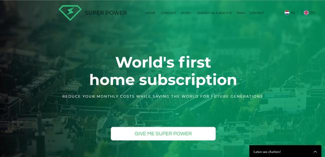 Landing page superpower.nu