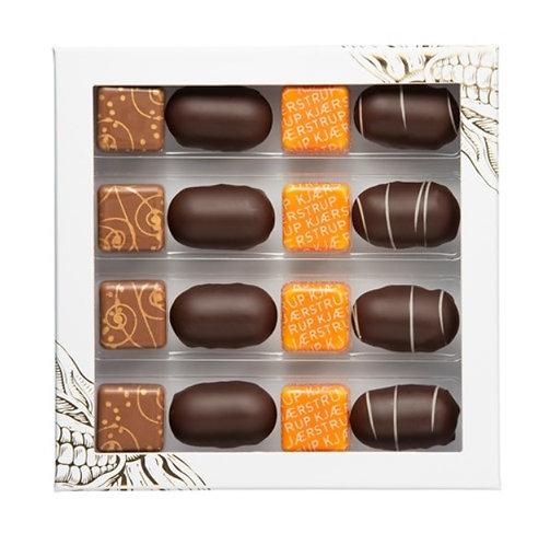 Kjærstrup Chokolade - gaveæske 16 stk.