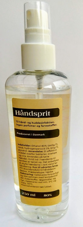 Håndsprit, 250 ml m/pumpe