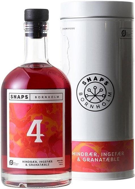 No 4, Hindbær,ingefær og granatæble Snaps, 50 cl