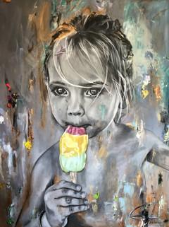 Meisje met het ijsje